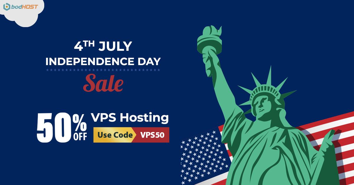 VPS hosting Offer - Independence day