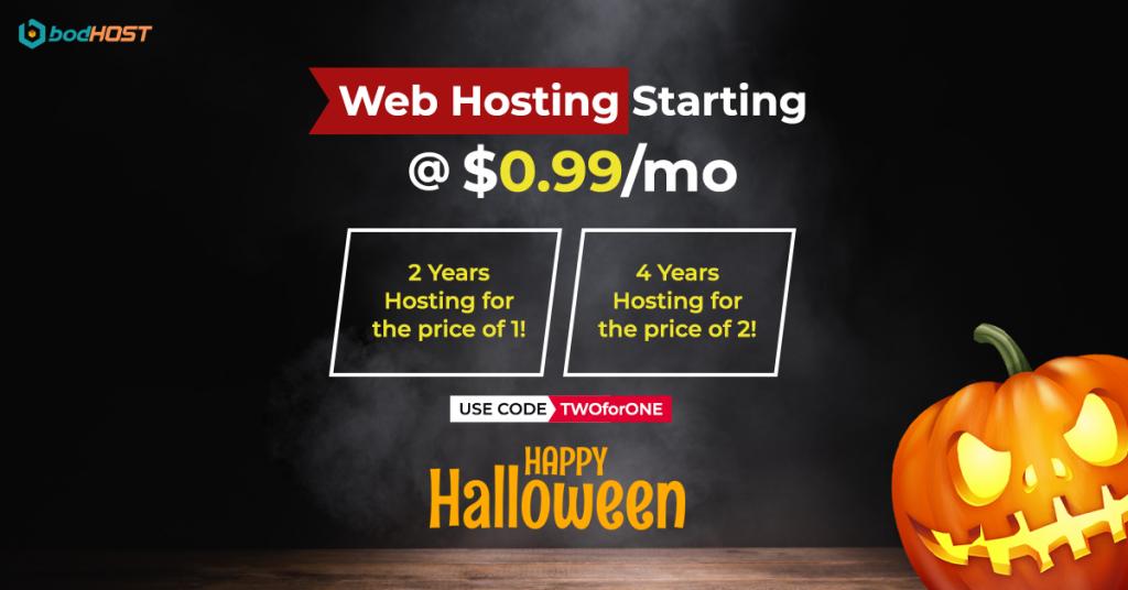 halloween web hosting offer